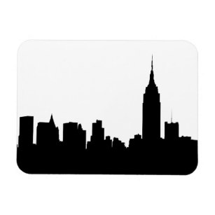 307x307 Silhouette Skyline Refrigerator Magnets Zazzle
