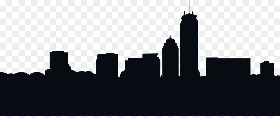 900x380 Boston Skyline Silhouette Royalty Free