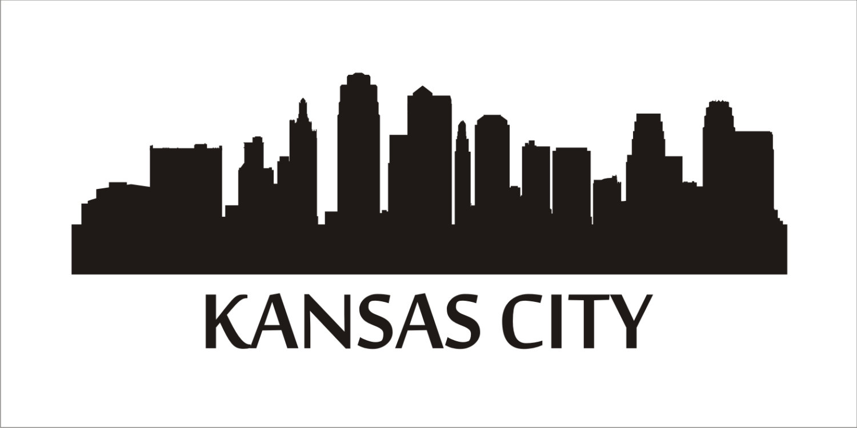 1500x750 Kansas City Skyline Reusable Stencils 7 Sizes Available
