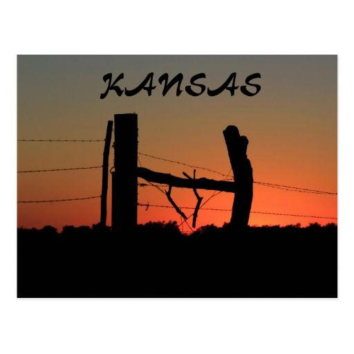512x512 Kansas Silhouette Fence Line Post Card Post Card And Photography