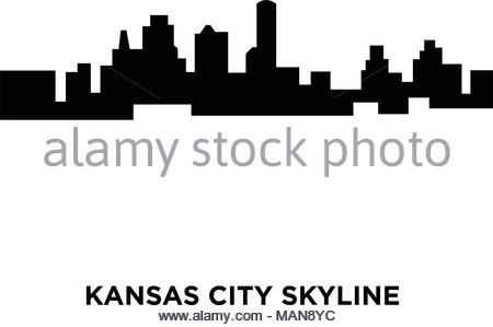 450x299 Missouri, Kansas City Architecture Line Skyline Illustration