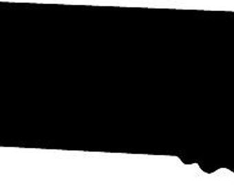 340x270 Kansas State Silhouette Die Cut Vinyl Decal Sticker. You Pick