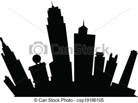 450x337 Cartoon Kansas City. Cartoon Skyline Silhouette Of The City