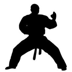 236x236 Martial Arts Karate Female Girl Kicking Silhouette Decal