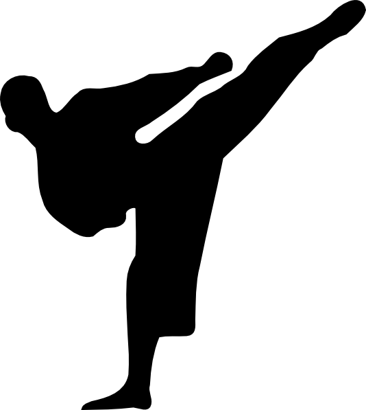534x597 Karate Kick Silhouette Clip Art