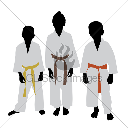 500x500 Karate Kids With Different Color Belt Rank Gl Stock Images