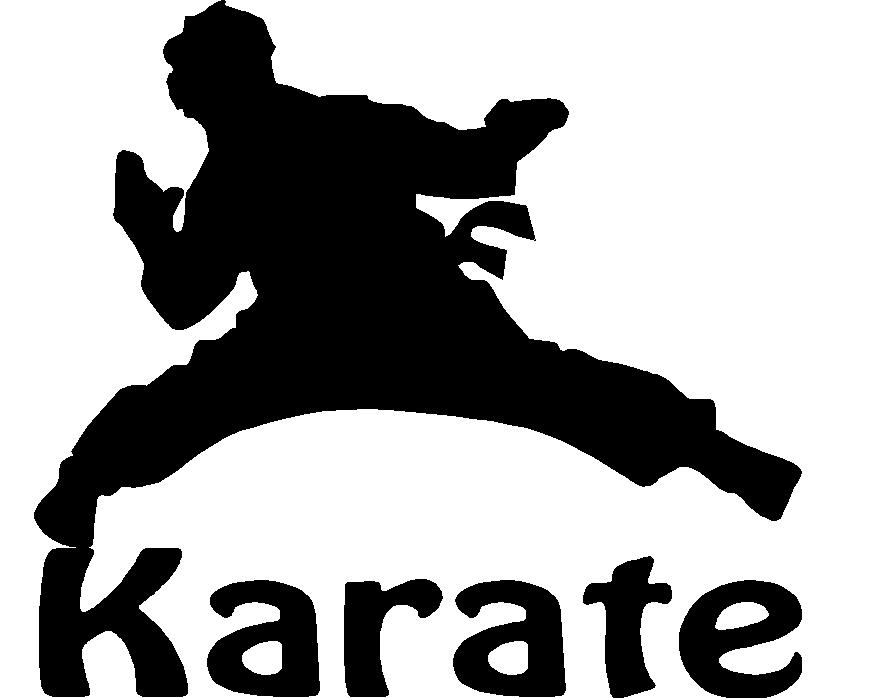 879x698 Karate Child Silhouette