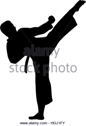 300x439 Karate Fighter Stock Vector Art Amp Illustration, Vector Image