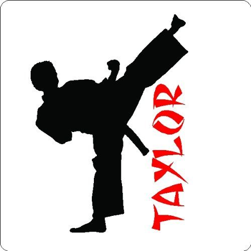 500x500 Personalized Karate Boy Wall Decal Art Sticker Words Eye Candy