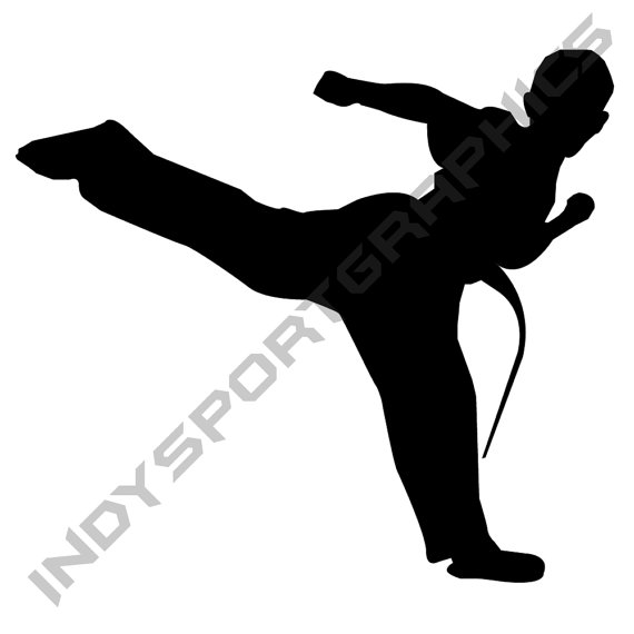 570x570 Silhouette Martial Arts Or Karate Boy Custom By Indysportgraphics