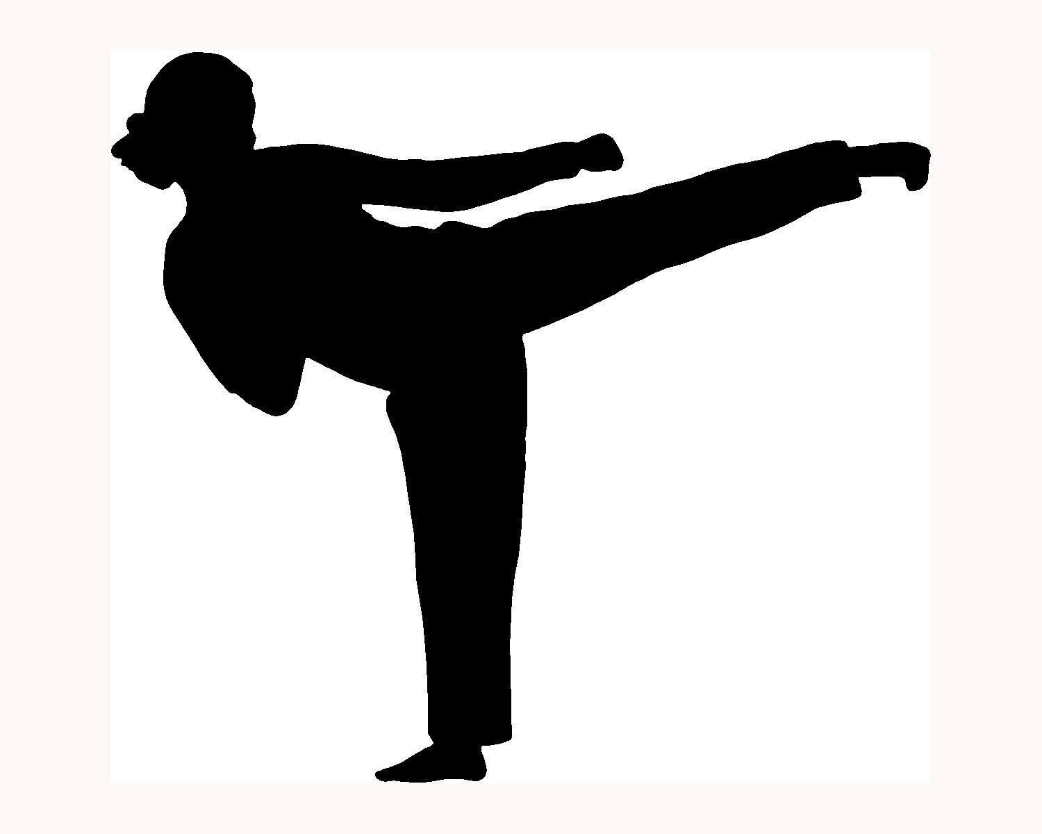 1500x1200 Karate Girl Silhouette Karate Party Girl