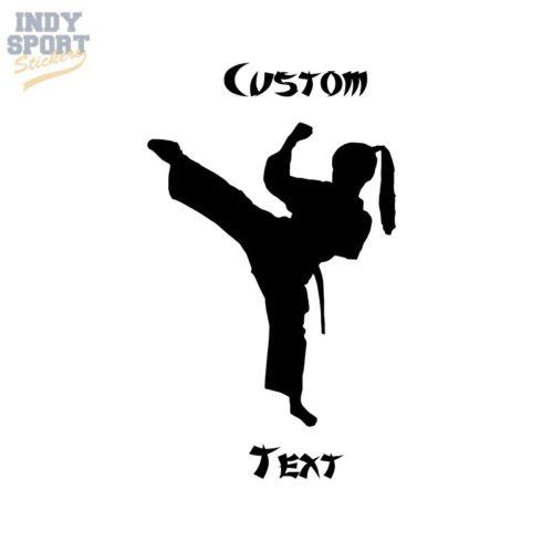 500x499 Silhouette Karate Female I Kick Like A Girl