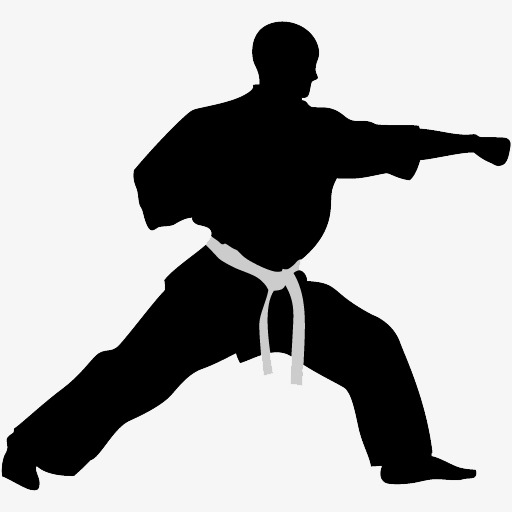 512x512 Karate Action Figures, Action, Sketch, Silhouette Figures Png