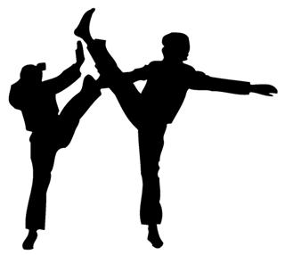 320x286 Karate Silhouette 1 Decal Sticker