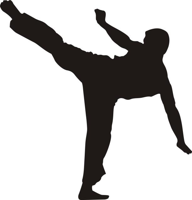 612x640 Karate Silhouette Clipart