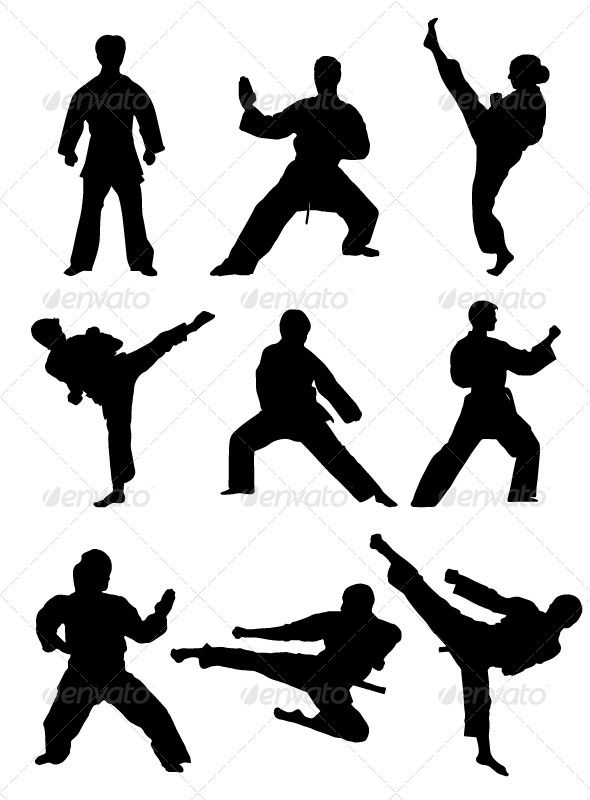 590x800 Karate Silhouettes Silhouette, Cake And Martial