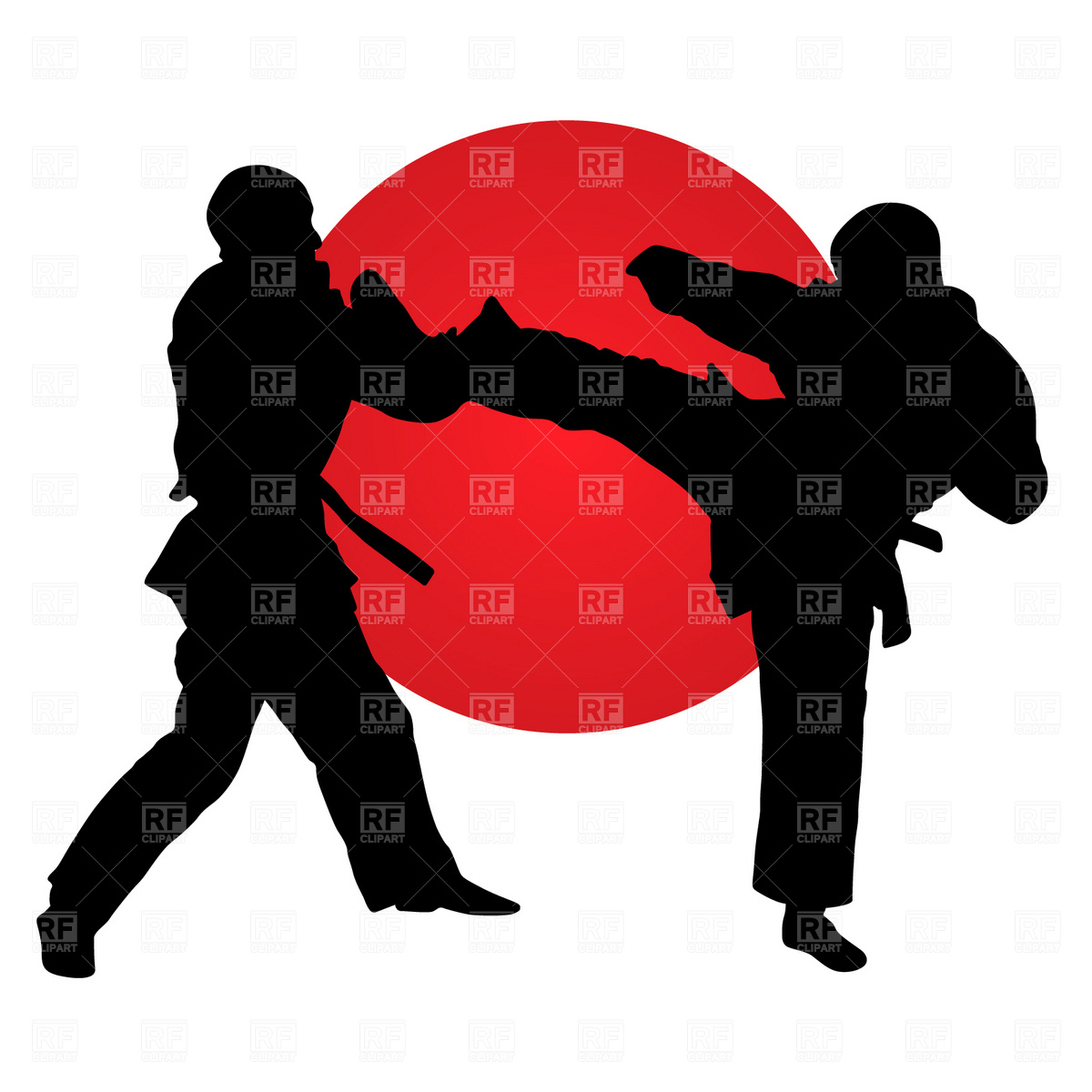 1200x1200 Karate Fighters Royalty Free Vector Clip Art Image