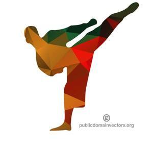 300x300 9281 Karate Girl Silhouette Clip Art Public Domain Vectors