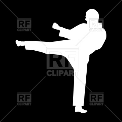 400x400 Karate Man Silhouette