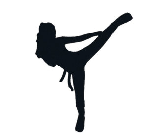340x270 Kickboxing Clipart Silhouette