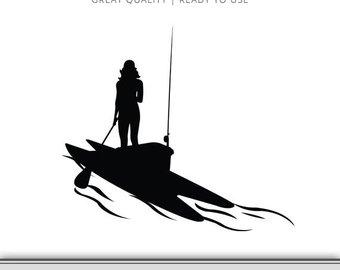 340x270 Girl On Paddleboard Fishing Graphic Paddleboard Svg Kayak