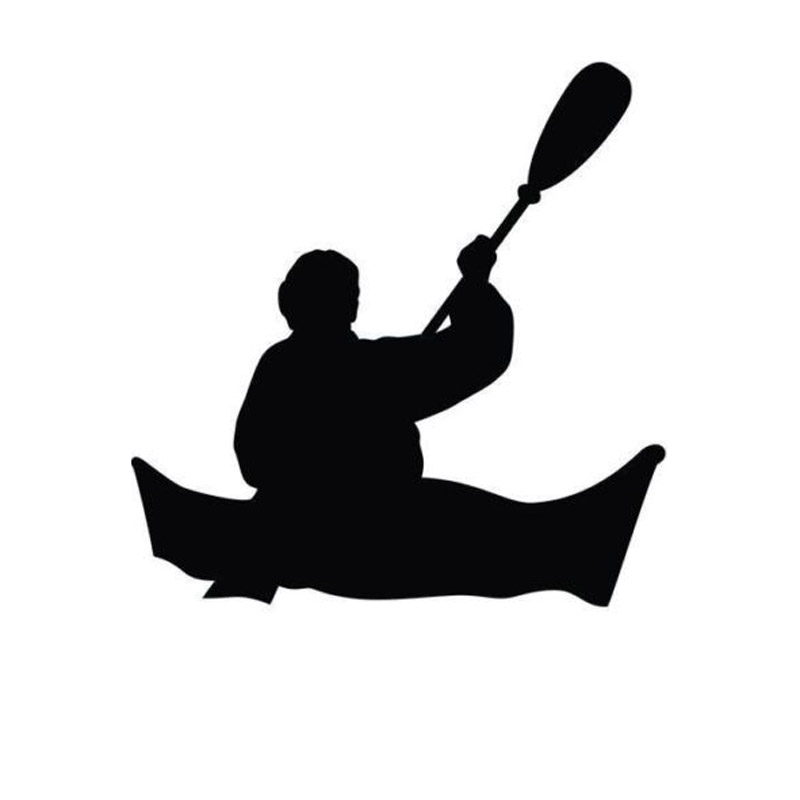 800x800 14.314.5cm Kayaking Silhouette Cartoon Car Decals I Love