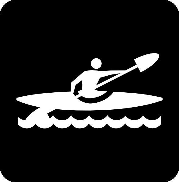 588x599 Kayak Silhouette Clip Art