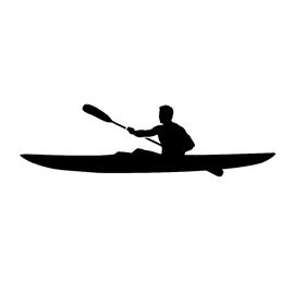 270x270 Kayaker Silhouette Stencil Free Stencil Gallery