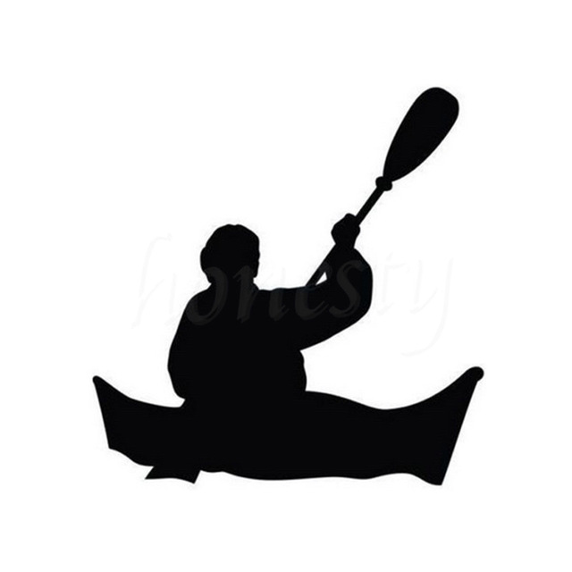 640x640 Funny Kayaking Silhouette Cartoon Car Decals I Love The Outdoors