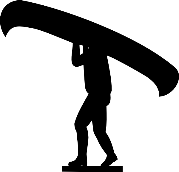 600x578 Man Carrying Canoe Clip Art