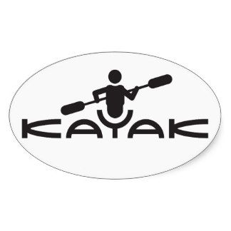 324x324 Kayak Silhouette Kayak Logo Sticker Farming