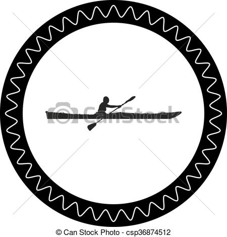 450x470 Kayak Vector Clip Art