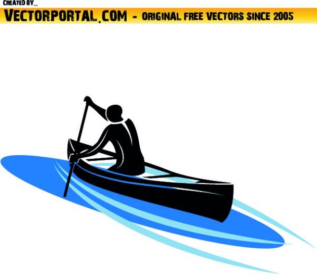 626x542 Man Navigating In Kayak Vector Free Download