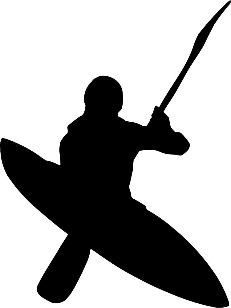 750x1000 Free Kayak Silhouette Clipart