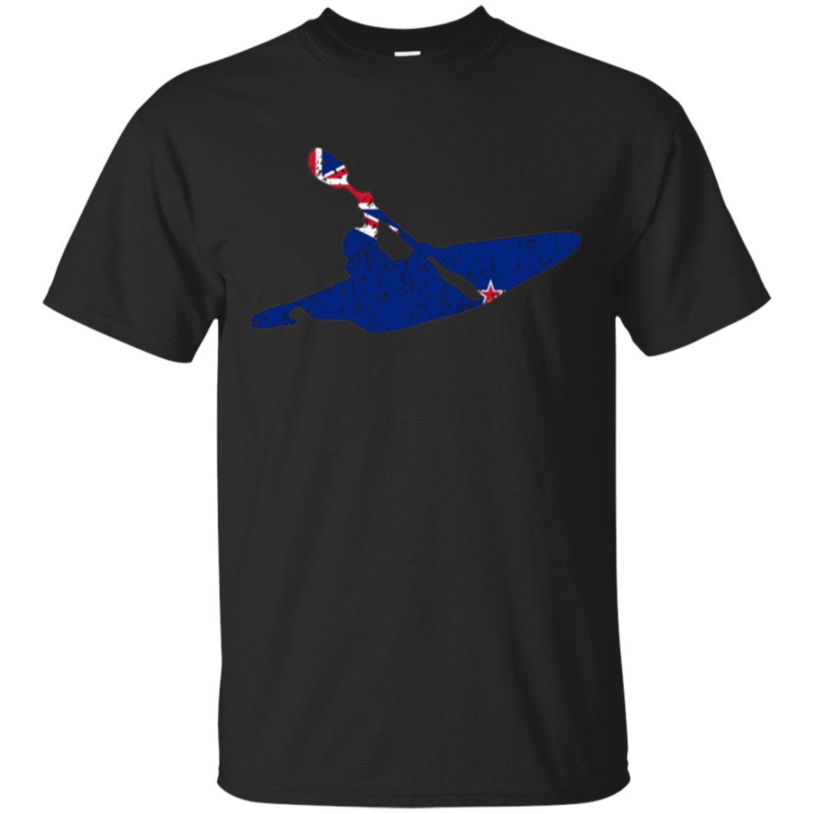 1155x1155 2018 New Zealand Kayaking Kiwi Flag Cool Kayaker Silhouette Shirt