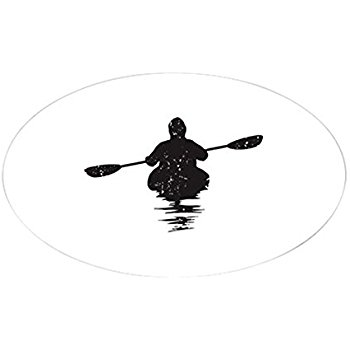 350x350 Kayaking Oval Bumper Sticker Automotive