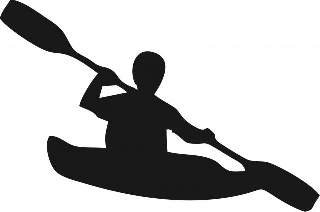 640x424 Kayaker Silhouette Laser Cut Appliques
