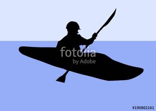 500x356 Silhouette Of A Kayaker Stock Image And Royalty Free Vector Files