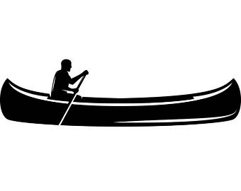 340x270 Canoe Boat Clipart Canoeing Silhouette ClipArt ETC AEUR Paberishme