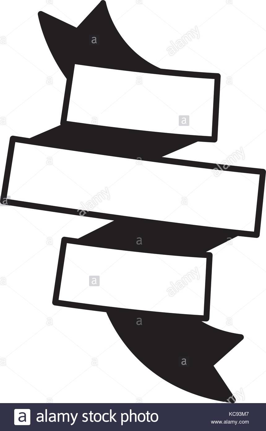 860x1390 Silhouette Black Ribbon Banner Icon Stock Photos Amp Silhouette