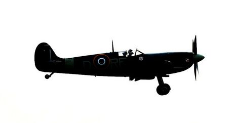 474x243 Awesome Spitfire Silhouette Airplanes Silhouettes