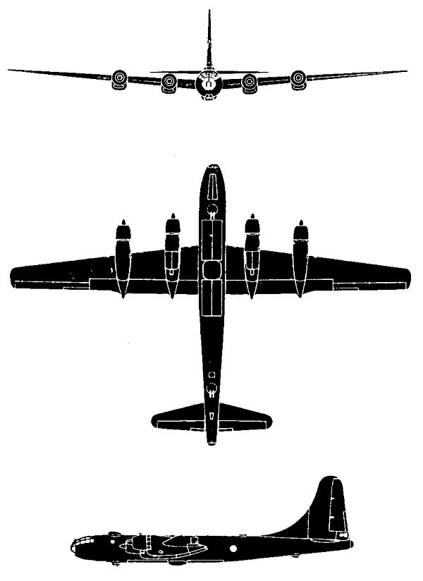 600x824 Boeing B 50 Superfortress
