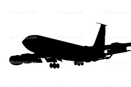 418x279 Boeing Kc 135 Stratotanker, Aerial Tanker Silhouette, Logo, Shape