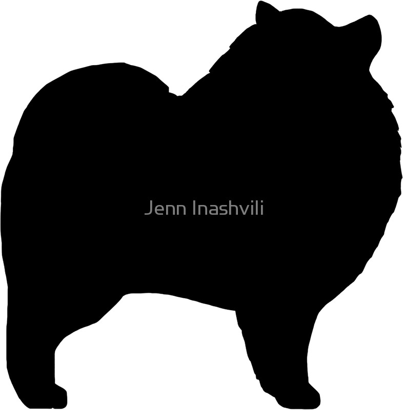 786x800 Keeshond Silhouette(S) Stickers By Jenn Inashvili Redbubble