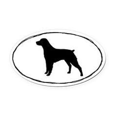 236x236 Keeshond Silhouette Oval Car Magnet Car Magnets, Silhouettes