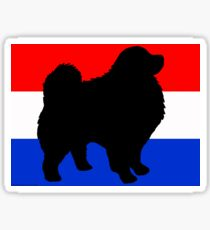 210x230 Keeshond Silhouette Stickers Redbubble