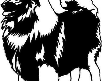 340x270 Keeshond Decal Etsy