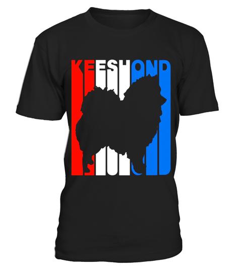 480x540 Retro Rwnb Keeshond Silhouette T Shirt Special Offer, Not