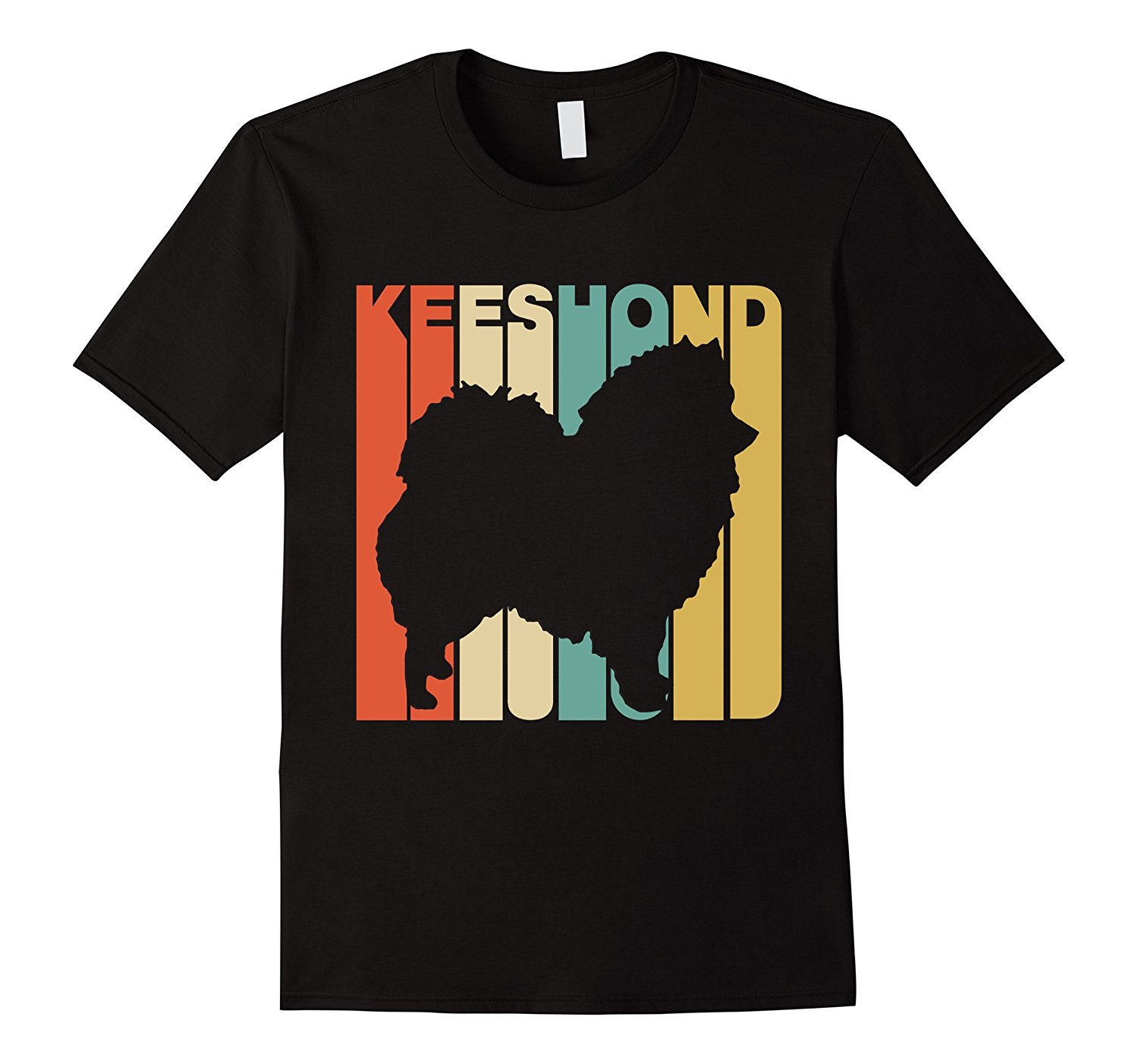 1500x1403 Vintage Style Keeshond Silhouette Dog Owner T Shirt