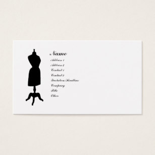 307x307 Dress Silhouette Business Cards Amp Templates Zazzle